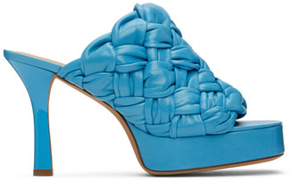 Bottega Veneta Blue Board Heeled Sandals