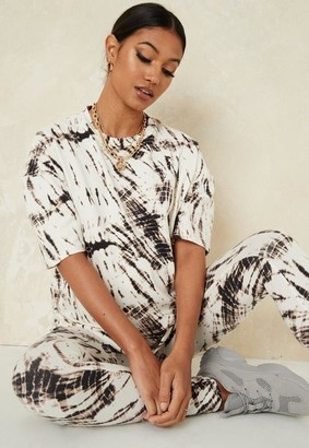 Missguided Tie Dye Co Ord Maternity T Shirt