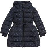 MonnaLisa Polka Dots Printed Nylon Puffer Coat