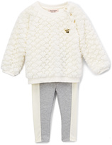 Juicy Couture White Ruffle Pullover & Gray Leggings - Infant Toddler & Girls