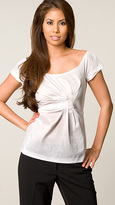 White Short-Sleeve Blouse