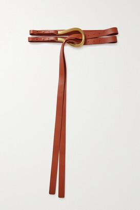 Bottega Veneta Leather Waist Belt - Orange