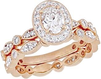 Affinity Diamond Jewelry Affinity 9/10 cttw Diamond Vintage Bridal Ring Set, 14K