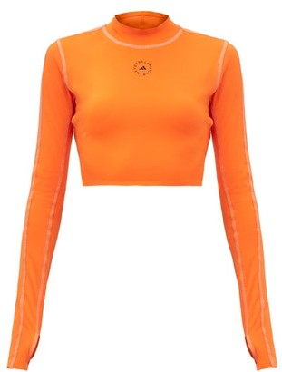 adidas by Stella McCartney Truepace Cutout Cropped Top - Orange