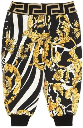 Versace Baroque Printed Cotton Sweatpants