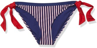 Curvy Kate Women's Ahoy Tie Side Brief Bikini Bottoms