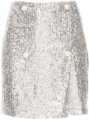 Rotate by Birger Christensen London Sequined Mini Skirt