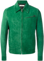 Bally suede zip-up jacket - men - Cotton/Calf Leather/Cupro - 46