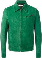 Bally suede zip-up jacket