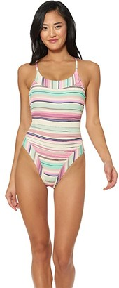 Jessica Simpson Sunset Bay Bind Pannel One-Piece (Push Multi) Women's Swimsuits One Piece