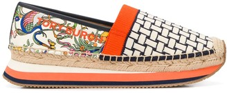 Tory Burch Promised Land patchwork espadrilles