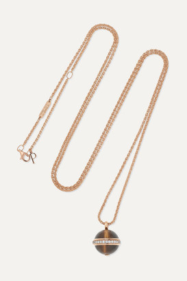Piaget Possession 18-karat Rose Gold, Tiger's Eye And Diamond Necklace