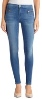 J Brand 8024 Emma Mid-Rise Super Skinny with Exposed Front Zipper in Solar Stone