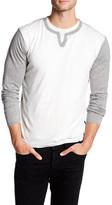 Autumn Cashmere Long Sleeve Colorblock Shirt