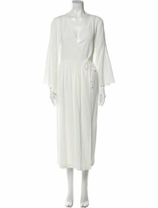 Mother of Pearl V-Neck Knee-Length Dress w/ Tags White