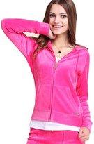 Gesdy Womens Casual Thin Thermal Zip-Up Hoodie