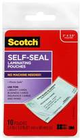 "Scotch 10ct Laminating Pouches Self-Seal 2"" x 3.5"""