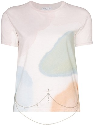 Collina Strada watercolour belly chain T-shirt