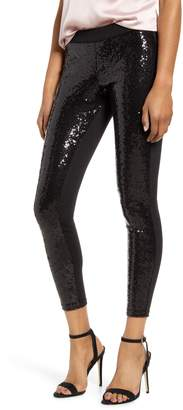 Hue Sequin Front Ponte Leggings