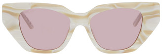 Gucci White Exaggerated Cat-Eye Sunglasses