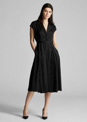 Ralph Lauren Silk-Blend Moire Dress