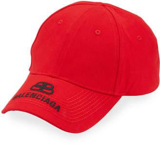 Balenciaga Men's Logo Embroidered Baseball Cap