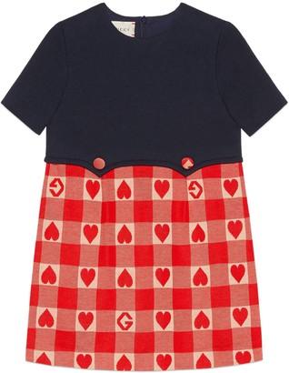 Gucci Children's heart check cotton dress
