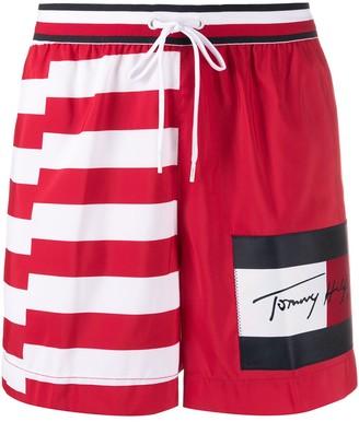 Tommy Hilfiger Striped Panel Swim Shorts