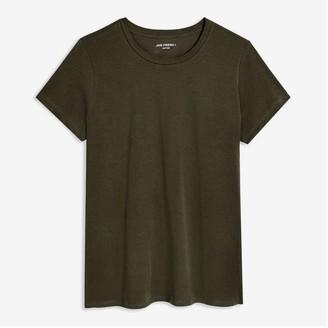 Joe Fresh Women+ Prima Cotton Tee, Army Green (Size 1X)