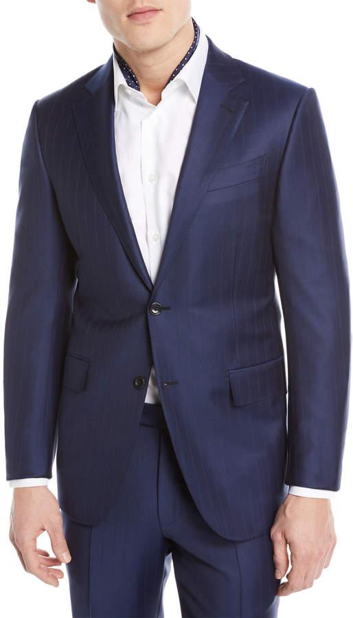 Ermenegildo Zegna Twin Striped Trofeo Wool Two-Piece Suit