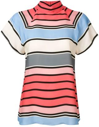 Emporio Armani Striped Short Sleeve Blouse