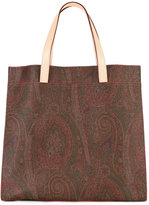 Etro paisley print square tote - women - Cotton/Calf Leather/Polyester/PVC - One Size