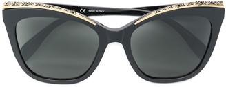 Alexander McQueen Eyewear Encrusted Cat-Eye Sunglasses