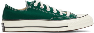 Converse Green Seasonal Color Chuck 70 OX Low Sneakers