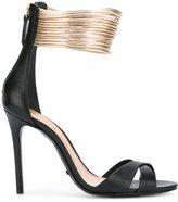 Schutz cross strap sandals - women - Leather - 39