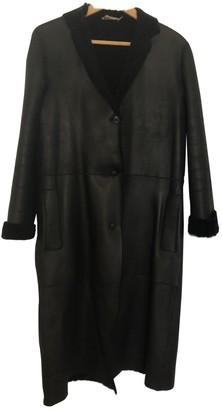 Calvin Klein Black Leather Coat for Women