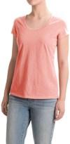 Cynthia Rowley High-Low Slub T-Shirt - Scoop Neck, Short Sleeve (For Women)