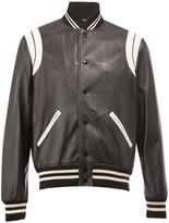 Saint Laurent monochrome teddy jacket - men - Cotton/Lamb Skin/Cupro/Wool - 48