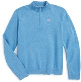 Vineyard Vines Girl's Quarter Zip Sweater