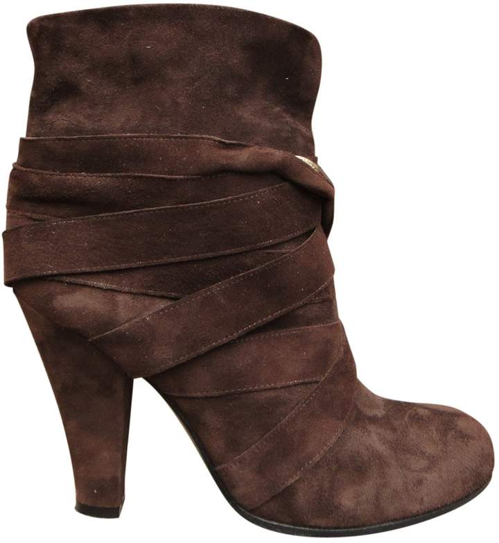 Marc Jacobs Brown Suede Ankle boots