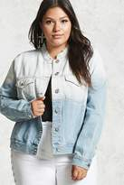 Forever 21 FOREVER 21+ Plus Size Ombre Denim Jacket