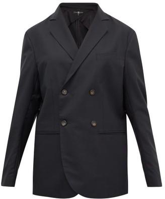 Edward Crutchley Double-breasted Wool-crepe Blazer - Womens - Black