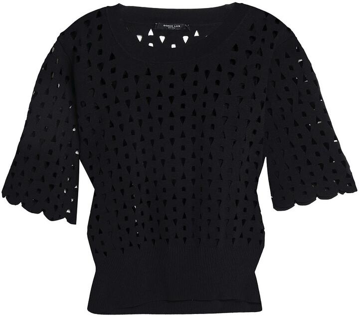 Derek Lam Laser-cut Stretch-knit Top