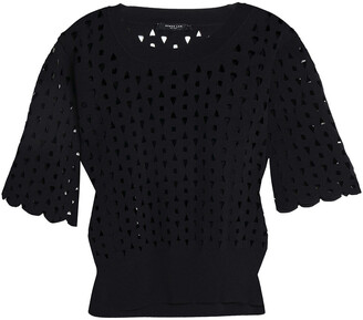 Derek Lam Laser-cut Stretch-knit Top