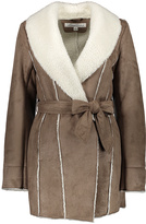 Kenneth Cole Sand Faux Shearling Leather Trench - Women