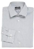 Theory Gingham Check Dress Shirt
