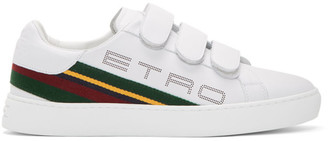 Etro White Stripe Logo Trainer Sneakers