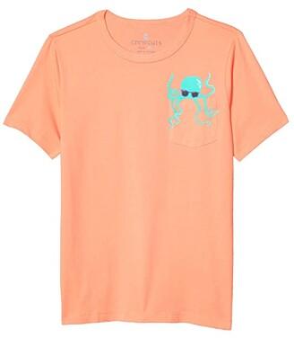 crewcuts by J.Crew Short Sleeve Critter Pocket Tee (Toddler/Little Kids/Big Kids) (Octopus Critter) Boy's Clothing