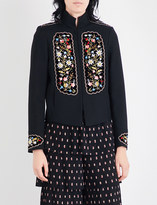 Vilshenko Misha floral-embroidered twill jacket