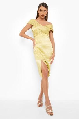 boohoo One Shoulder Midi Bridesmaid Dress